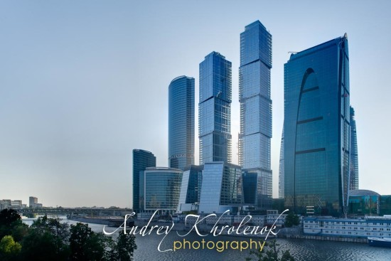 Панорама Москва-Сити. Вечер. © Андрей Хроленок