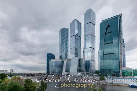 Панорама Москва-Сити. Пасмурный день. © Андрей Хроленок