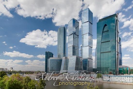 Панорама Москва-Сити. Облачный день. © Андрей Хроленок