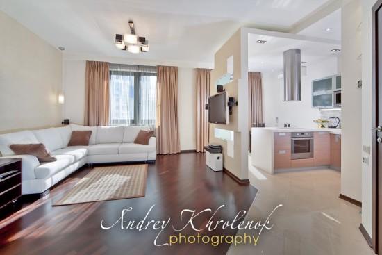 Панорама квартиры-студии © Андрей Хроленок