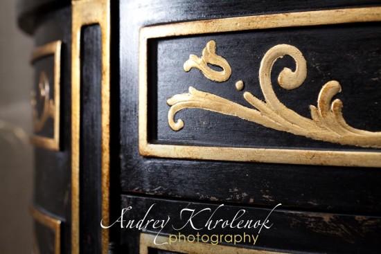 Деталь чёрного шкафчика 2. Фотосъёмка мебели для каталога © Андрей Хроленок