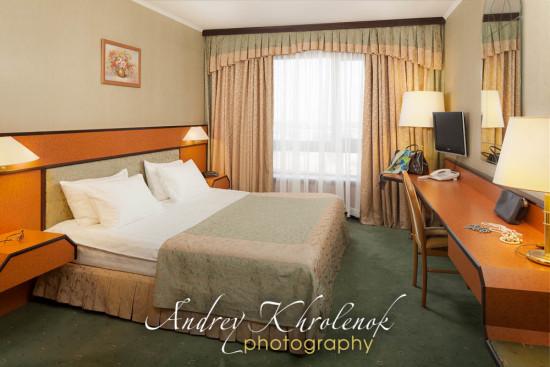 Спальня в апартаментах в гостиничном комплексе «Космос». © Фотограф Андрей Хроленок