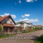Улица с фарвехтовыми домами в коттеджном посёлке. © Andrey Khrolenok