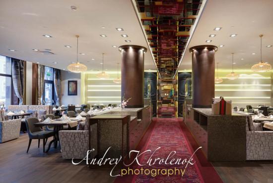 Панорама ресторана отеля Меркуре Павелецкая. © Photographer Andrey Khrolenok