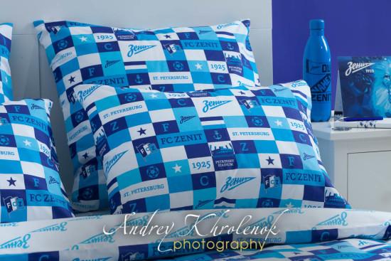 Интерьерная фотосъёмка постельного белья клуба «Зенит». © Photographer Andrey Khrolenok