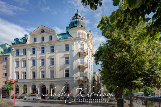 Facade of hotel Hörnan. © Photographer Andrey Khrolenok