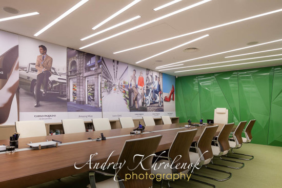 Conference room in the «Carlo Pazolini» company office. © Photographer Andrey Khrolenok