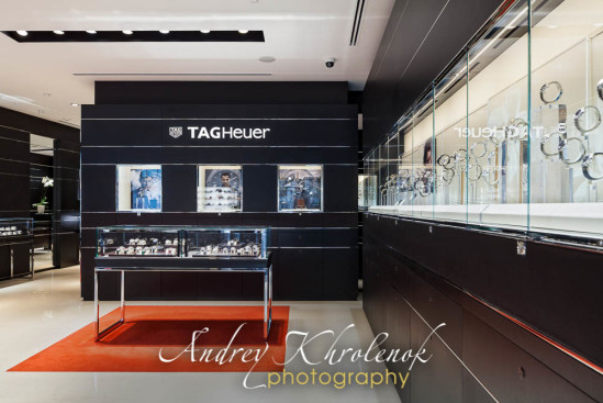 Interior of the watch shop. © Photographer Andrey Khrolenok